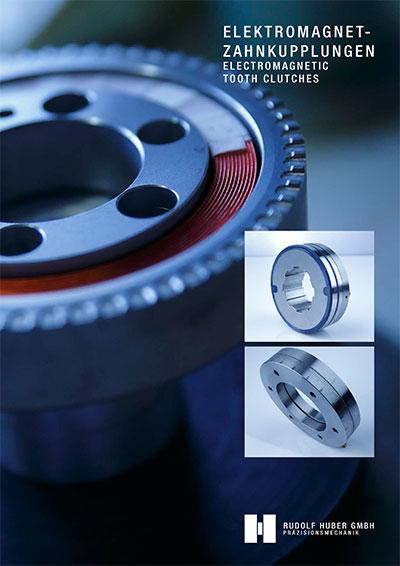 Elektromagnet-Zahnkupplungen Rudolf Huber GmbH Präzisionsmechanik Titel Katalog